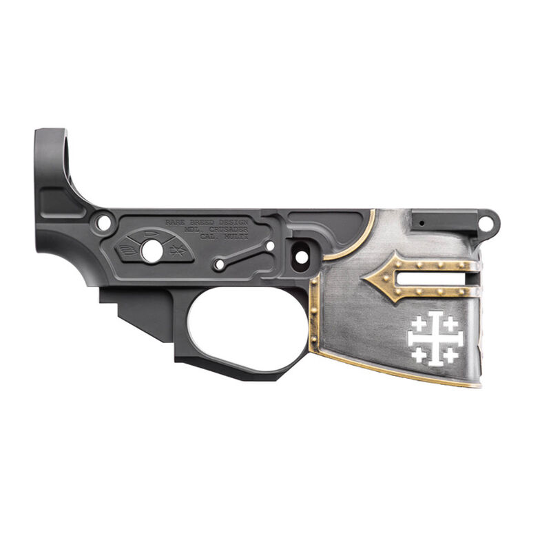 Spike's Tactical Rare Breed Crusader AR-15 Stripped Lower Receiver Painted Multi Caliber Marked Aluminum Black