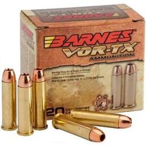 Barnes VOR-TX Hunting .45 Colt Ammunition 20 Rounds XPB SCHP 200 Grains BB45CLT3