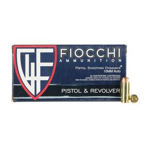 Fiocchi 10mm Auto Ammunition 50 Rounds JHP 180 Grains