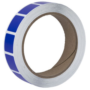 """Action Target Roll of 1000 7/8"""" Square Target Paster Dark Blue"""
