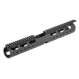 "Leapers UTG PRO M4/AR-15 15"" Carbine Length SuperSlim Drop In Handguard Picatinny/Weaver Top Rail Aluminum Black MTU015SS"
