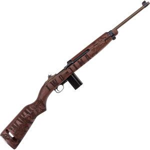 "Auto-Ordnance Iwo Jima M1 Carbine .30 Carbine Semi Auto Rifle 18"" Barrel 15 Rounds WWII Tribute Engraved Walnut Stock OD Green/Distressed Copper Finish"