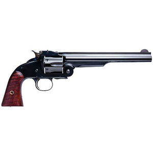 "Cimarron Model 3 Schofield Revolver 1st Model American .45 Long Colt 8"" Barrel 6 Rounds Wood Grips Blue Finish"