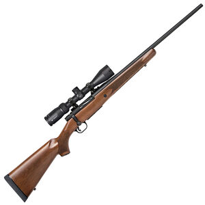 "Mossberg Patriot Vortex Scoped Combo Bolt Action Rifle .243 Winchester 22"" Barrel 5 Rounds Vortex Crossfire II 3-9x40 Scope With BDC Reticle Walnut Stock Matte Blued"