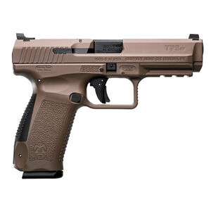 "Canik TP9SF 9mm Luger Semi Auto Pistol 4.46"" Barrel 18 Rounds Warren Tactical Sights Picatinny Rail Polymer Frame Desert Finish"