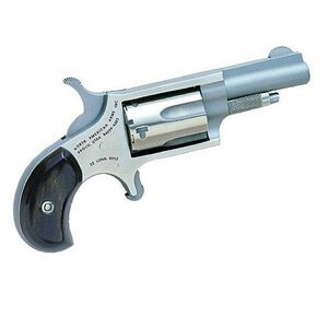 "NAA Mini Single Action Revolver .22 LR 1.6"" Barrel 5 Rounds Wood Grips Stainless Steel Frame and Finish NAA-22LLR"
