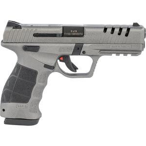 "SAR USA SAR9X 9mm Luger Semi Auto Pistol 4.4"" Barrel 19 Rounds 3-Dot Sights Polymer Frame Platinum Cerakote Finish"