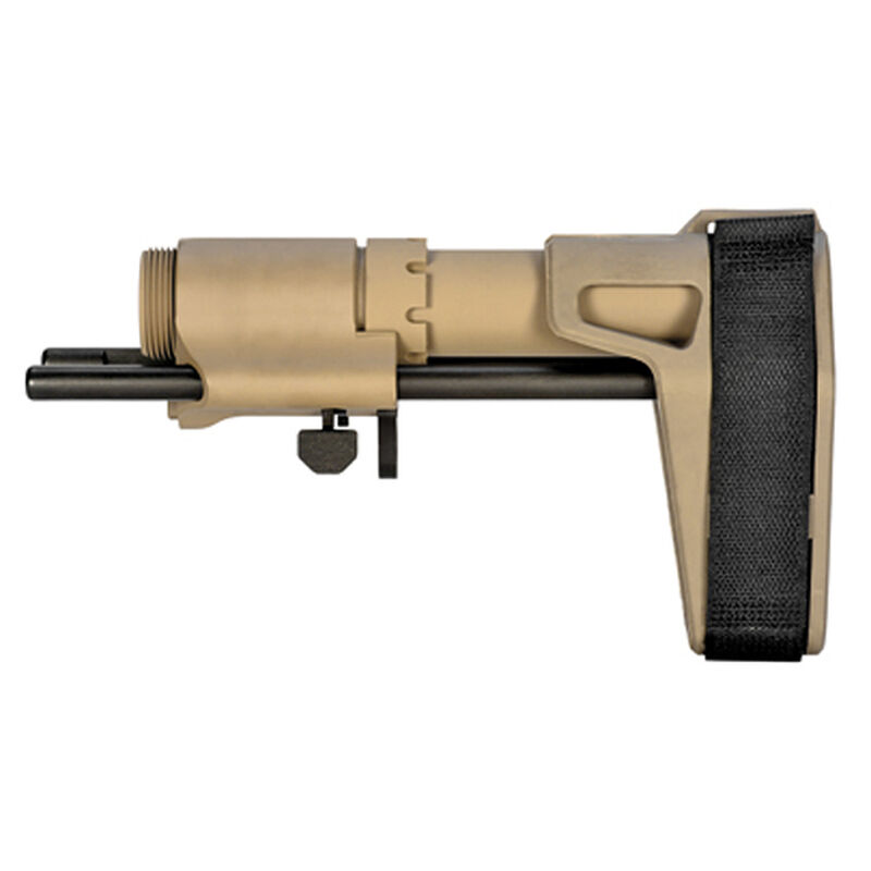 SB Tactical Three Position Adjustable AR-15 Brace Flat Dark Earth PDW-02-SB