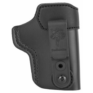 DeSantis Sof-Tuck 2.0 IWB Holster for GLOCK 26,27,33/Springfield XDS and Similar Right Hand Leather Black