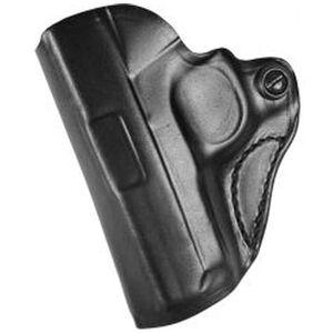 "DeSantis Mini Scabbard Holster GLOCK 19/23/36 OWB 1.5"" Belt Left Hand Leather Black"