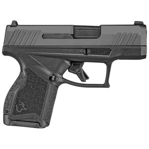 "Taurus GX4 9mm Luger Semi Auto Pistol 3.06"" Barrel 11 Rounds Fixed Steel Dot Front Sight/Serrated Adjustable Rear Sight Polymer Housing Black Finish"