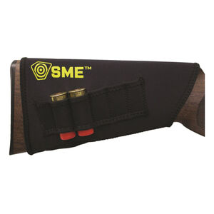 SME Rifle Stock Riser with Shell Loop Adjustable Cheek Comb Neoprene Black