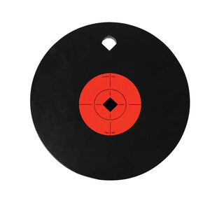 "Birchwood Casey World of Targets AR500 8"" Single Hole Steel Gong 3/8"" AR500 Steel Target Matte Black"