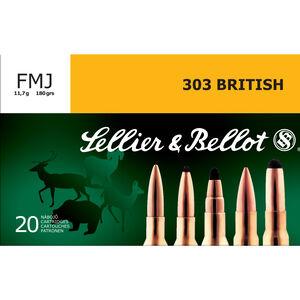 Sellier & Bellot .303 British Ammunition 20 Rounds FMJ 180 Grains SB303A