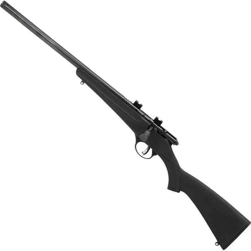 "Savage Rascal FV-SR Left Handed .22 LR Single Shot Bolt Action Rimfire Rifle 16.125"" Heavy Threaded Barrel 1 Round Black Synthetic Stock Blued Finish"