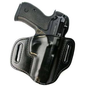 """Don Hume 721OT 4"""" Springfield XD, Sig SP2022 Pancake Open Top Holster Right Hand Leather Black"""