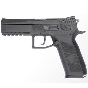 "CZ P-09 Full Size Semi Auto Pistol .40 S&W 4.54"" Barrel 15 Rounds Magazine Fixed Three Dot Sights Omega DA/SA Trigger Polymer Frame Matte Black Finish"