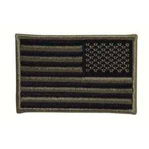 """Voodoo Tactical Embroidered US Flag Patch Right Facing 3""""x2"""" Foliage Green 20-908776001"""