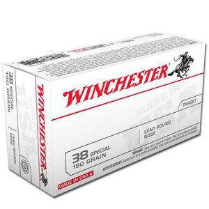 Winchester USA .38 Special Ammunition 50 Rounds, LRN, 150 Grains