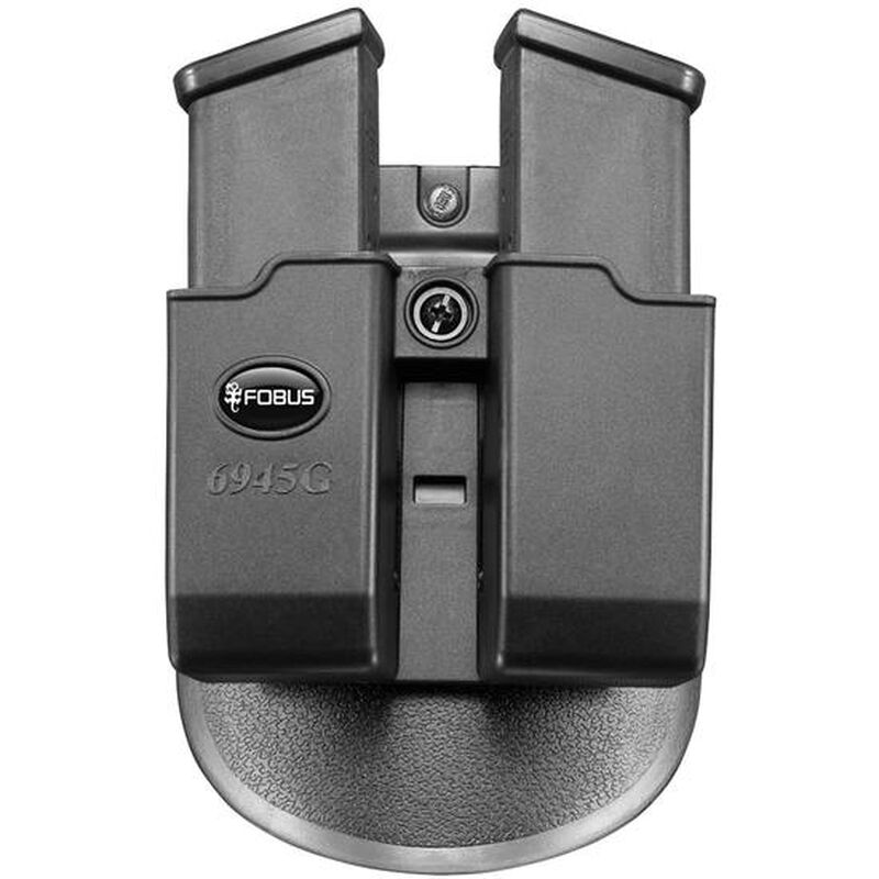 Fobus Double Magazine Roto-Paddle Pouch For GLOCK .45 Double Stack Magazines Ambidextrous Polymer Black 6945RP