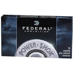 Ammo .30-06 Springfield Federal Power-Shok 220 Grain Hot-Cor SP Bullet 2410 fps 20 Rounds 3006HS