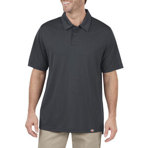 Dickies Men's Industrial Work Tech Performance Ventilated Polo Large Dow Charcoal