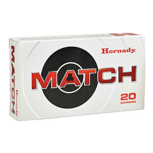 Hornady Match .308 Winchester Ammunition 20 Rounds 155 Grain ELD Match Polymer Tip Projectile 2850fps