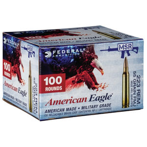 Federal American Eagle .223 Remington Ammunition 55 Grain FMJ 3240 fps