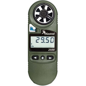 Kestrel 2500NV Pocket Weather Meter With Night Vision Backlight Compass OD Green 0825NV