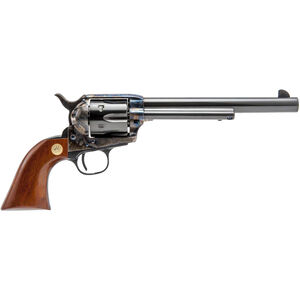 "Cimarron Model P Dual Cylinder .45 LC/.45 ACP SA Revolver Pistol 7.5"" Barrel 6 Rounds Two Changeable Cylinders Walnut Grip Case Hardened/Blued Finish"