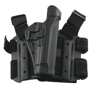 BLACKHAWK! SERPA Level 2 Tactical Drop Leg Holster SIG P226/229/220 Right Hand Polymer Black 430506BK-R