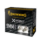 Browning X-Point Defense 9mm Luger Ammunition 20 Rounds JHP 147 Grain