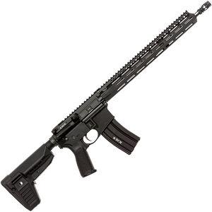 """Bravo Company USA RECCE-16 MCMR Precision Rifle 5.56 NATO AR-15 Semi Auto Rifle 16"""" Barrel 30 Rounds M-LOK Handguard Collapsible Stock Black"""