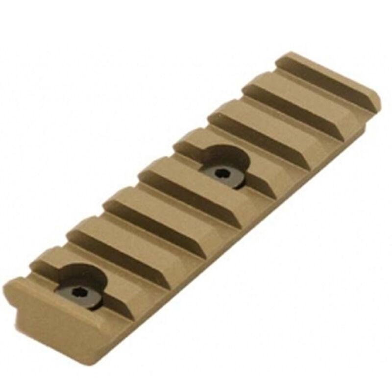UTG PRO 8-Slot Keymod Picatinny Rail Section-Burnt Bronze