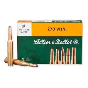 Sellier & Bellot .270 Winchester Ammunition 20 Rounds SP 150 Grains SB270A