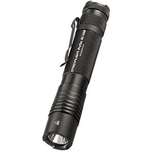 Streamlight ProTac HL USB High Lumen Tactical Handheld LED Flashlight 850 Lumens C4 LED Rechargeable Li-On 18650 Battery Tail Cap Switch Pocket Clip Aluminum Black with Holster 88054