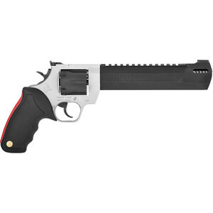 "Taurus Raging Hunter .44 Mag DA/SA Revolver 8.375 "" Ported Barrel 6 Rounds with Case Adjustable Rear Sight Picatinny Top Rail Rubber Grip Two Tone Stainless/Black"
