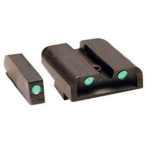 TRUGLO GLOCK 10mm/.45 ACP Brite Site Tritium Night Sights Green Front/Rear CNC Machined Steel Black TG231G2