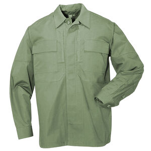 5.11 Tactical Taclite TDU Long Sleeve Shirt Polyester Cotton Large TDU Green 72054