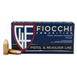 Fiocchi 9mm Ammunition 50 Rounds, JHP, 147 Grain