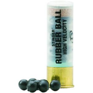 "Defense Technology Stinger 12 Gauge Ammunition 1 Round 2.52"" Shell 18 .32 cal. Rubber Balls High Velocity Less Lethal 900 fps."