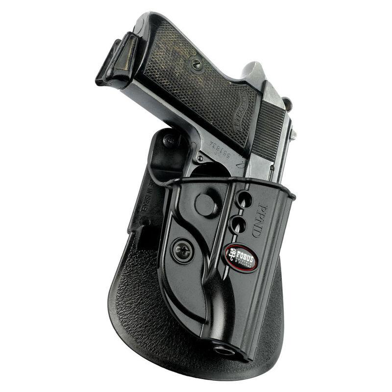 Fobus Evolution Roto-Paddle/Belt Holster Walther PP/PPK/PPKS Right Hand Polymer Black PPKE2RP