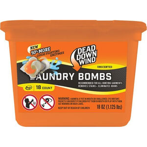 Dead Down Wind Laundry Bomb Scent Elimination Laundry Detergent Packs 18 Count