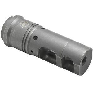 "SureFire SOCOM Muzzle Brake/Suppressor Adapter 6.8mm/.277 Caliber Threaded 5/8""x24 Heat Treated Stainless Steel Ionbond DLC Coating Matte Black SFMB-68-5/8-24"