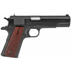 "Colt Classic 1911 Series 70 Government Model .38 Super Semi Auto Pistol 5"" Barrel 9 Round Fixed Sights Rosewood Grips Blue Finish"