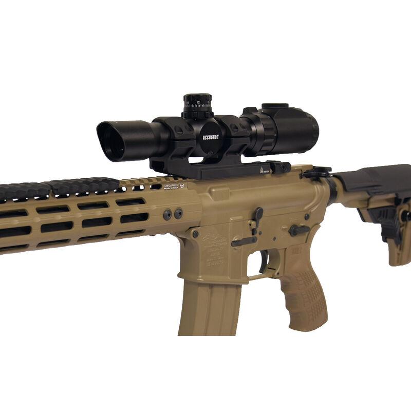 Leapers UTG Accu-Sync Offset Picatinny Ring Mount 30mm Tube Medium Profile 34mm Offset Gun Metal Cerakote