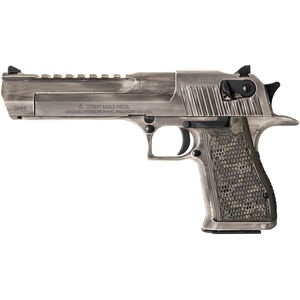 "Magnum Research Apocalyptic Desert Eagle Mark XIX Semi Auto Pistol .50AE 6"" Barrel 7 Rounds G10 Synthetic Grips Cerakote White Matte Distressed Finish"