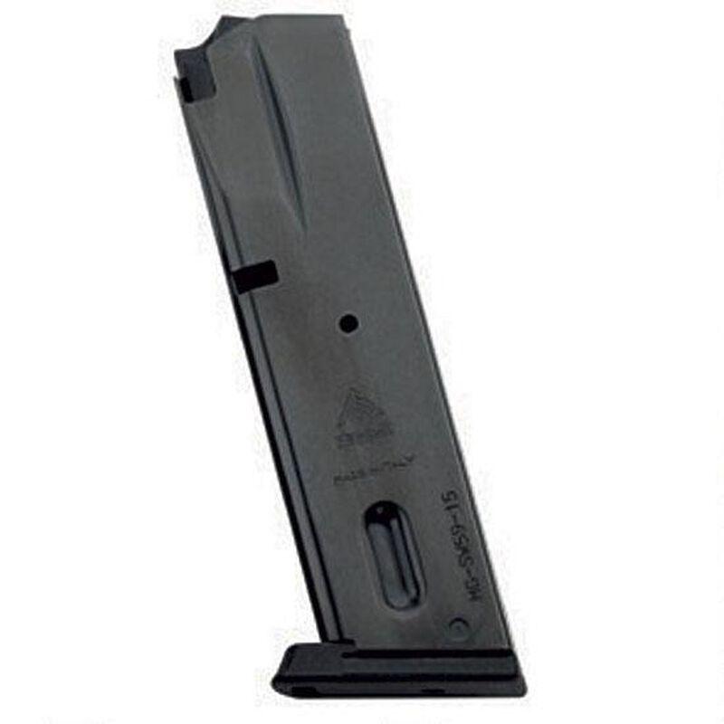 Mec-Gar S&W 5906 Series Magazine 9mm Luger 15 Round Capacity Steel Tube Polymer Floor Plate Blued