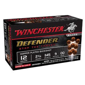 """Winchester Defender 12 Gauge Shotshell 10 Rounds 2 3/4"""" 00 Buck 9 Pellets"""