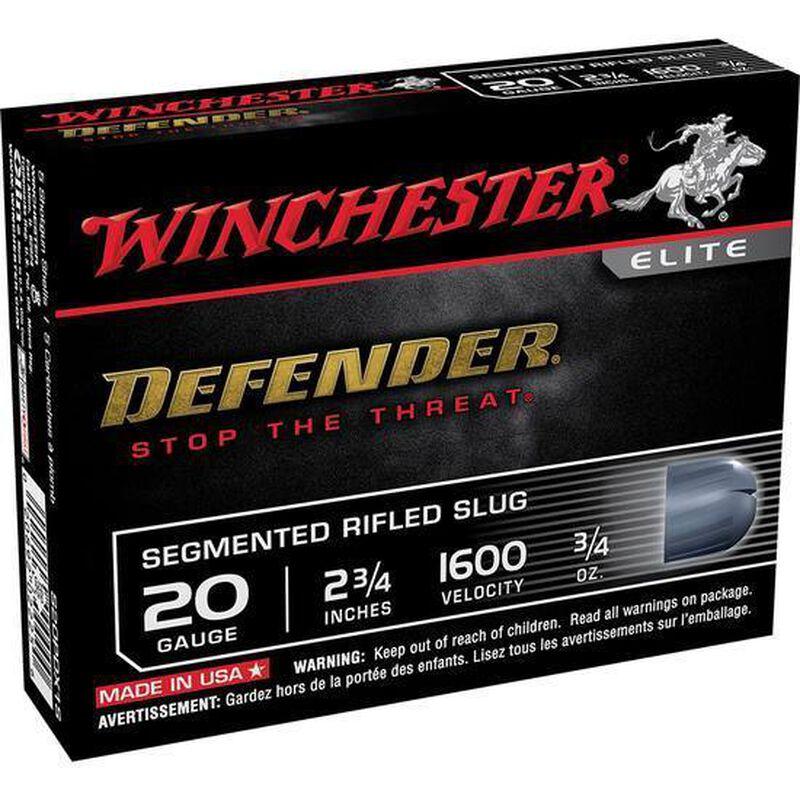 "Winchester Defender 20 Gauge Shot Shells 5 Rounds 2 3/4"" Segmented Slug 3/4 Ounce S20PDX1S"